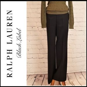 RALPH LAUREN BLACK LABEL Wool Trousers w/Pockets 8
